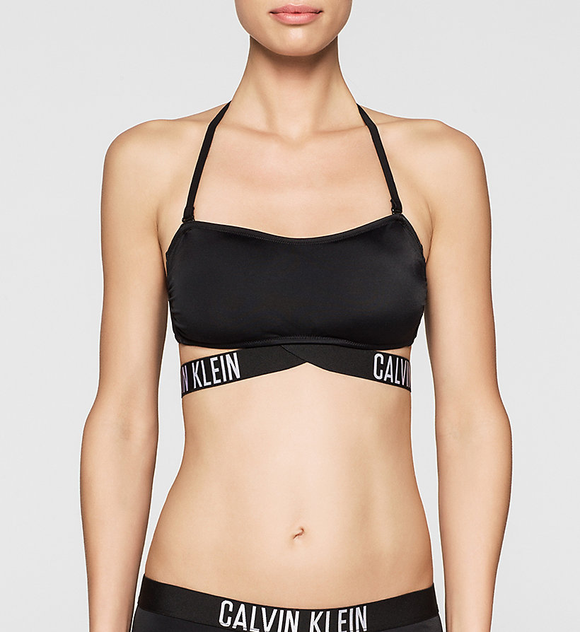 CALVINKLEIN Bandeau Bikini Top - Intense Power - BLACK - CALVIN KLEIN SWIMWEAR - main image