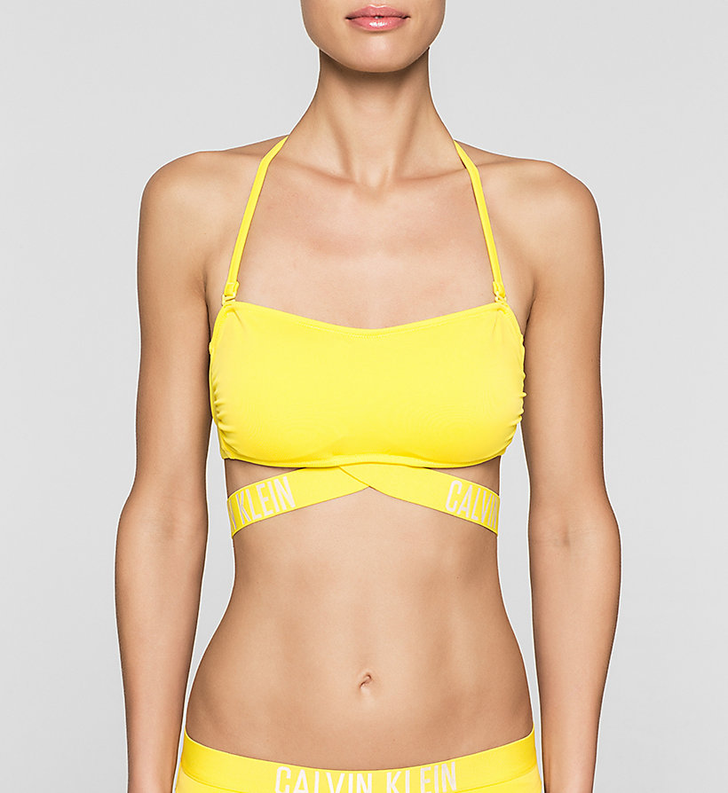 CALVINKLEIN Bandeau Bikini Top - Intense Power - BUTTERCUP - CALVIN KLEIN SWIMWEAR - main image