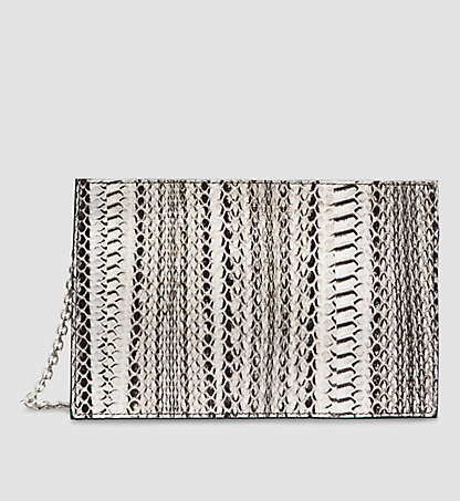 CALVIN KLEIN COLLECTION Pochette zippée en serpent d'eau W71B006COL901