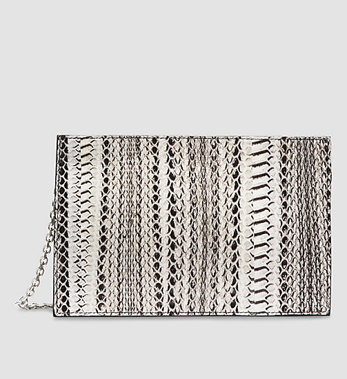 CKCOLLECTION Water Snake Zip Clutch - BLACK OPALINE - CK COLLECTION BAGS - main image