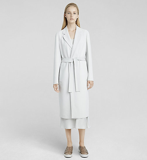 CKCOLLECTION Stretch Cady Belted Coat - SILK GREY - CK COLLECTION  - main image