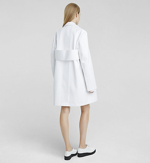 CKCOLLECTION Martingale Back Oversized Coat - WHITE - CK COLLECTION OUTERWEAR - detail image 1