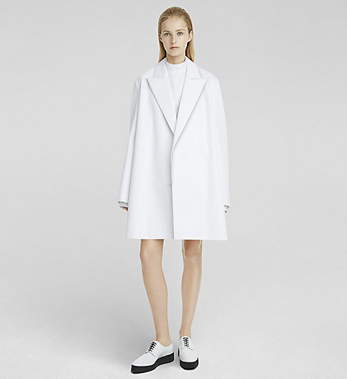 CKCOLLECTION Martingale Back Oversized Coat - WHITE - CK COLLECTION  - main image