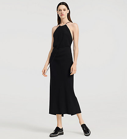 CALVIN KLEIN COLLECTION Stretch Cady Evening Halter Dress W71D004COL001