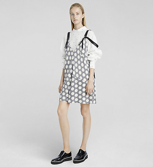 CALVINKLEIN Macro Dot Silk Dress - BLACK MULTICOLOR 9 - CK COLLECTION DRESSES - main image