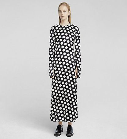 CALVIN KLEIN COLLECTION Robe fourreau en soie à gros points W71D053COL954