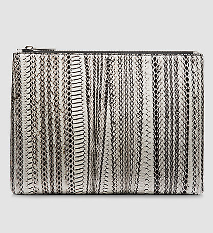 CALVIN KLEIN COLLECTION Large Snake Pouch W71L006COL901
