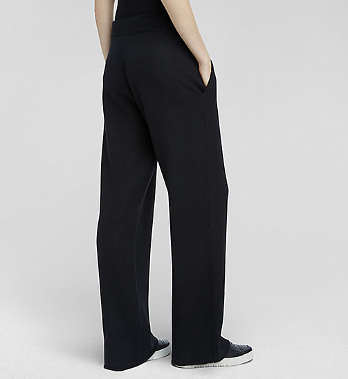 CKCOLLECTION Pantalones holgados de cashmere cocida - JET BLACK - CK COLLECTION  - imagen detallada 1