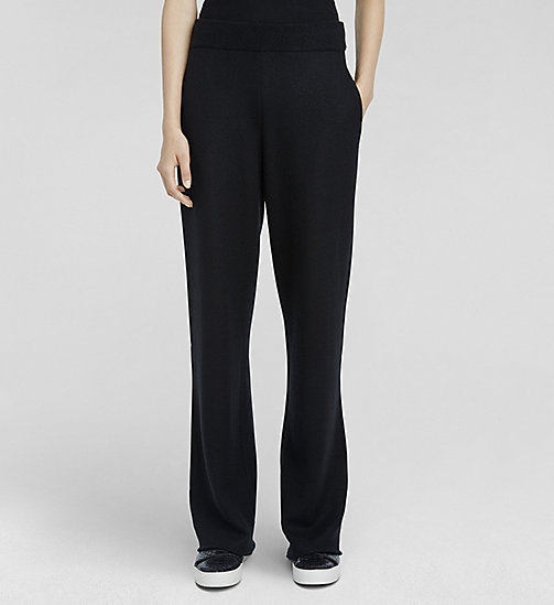 CALVINKLEIN Boiled Cashmere Slouchy Trousers - JET BLACK - CK COLLECTION TROUSERS - main image