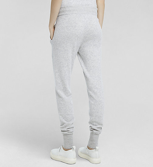 CALVINKLEIN Cashmere Sweatpants - LIGHTHEATHER - CK COLLECTION TROUSERS - detail image 1