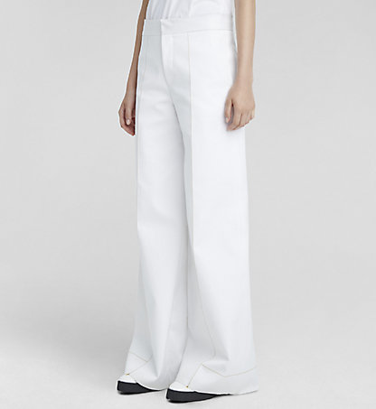 CALVIN KLEIN COLLECTION Double Cotton Palazzo Trousers W71P020COL101