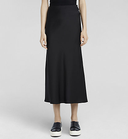 CALVIN KLEIN COLLECTION Silk Satin Skirt W71S007COL001