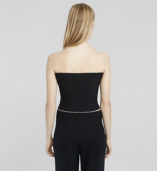 Stretch Cashmere Tube Top - JET BLACK - CK COLLECTION  - detail image 1
