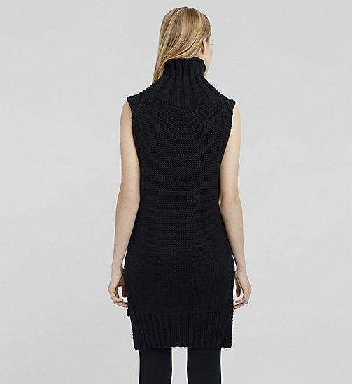 CKCOLLECTION Cashmere Sleeveless Turtleneck - JET BLACK - CK COLLECTION  - detail image 1