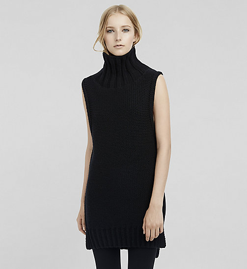 Cashmere Sleeveless Turtleneck - JET BLACK - CK COLLECTION JUMPERS - main image