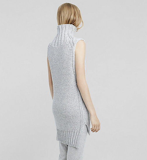 Cashmere Sleeveless Turtleneck - LIGHTHEATHER - CK COLLECTION JUMPERS - detail image 1