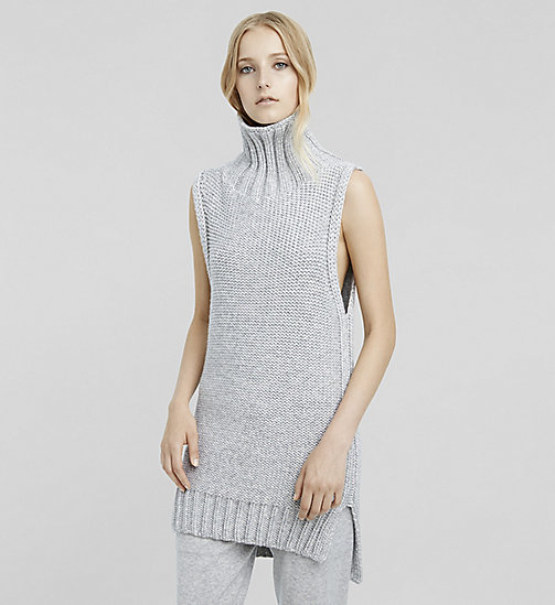 Cashmere Sleeveless Turtleneck - LIGHTHEATHER - CK COLLECTION JUMPERS - main image