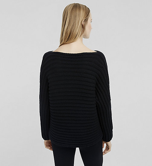 Cashmere Bateau Neck Sweater - JET BLACK - CK COLLECTION  - detail image 1