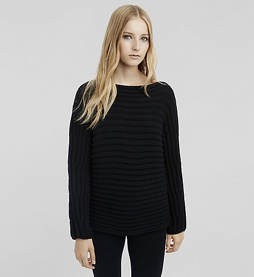 Cashmere Bateau Neck Sweater - JET BLACK - CK COLLECTION  - main image