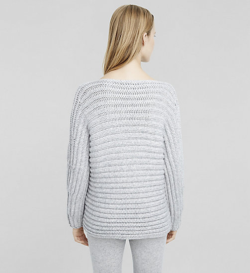 Cashmere Bateau Neck Sweater - LIGHTHEATHER - CK COLLECTION  - detail image 1