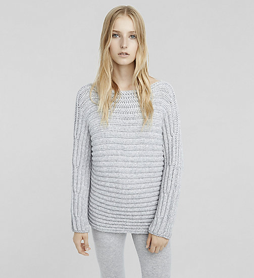 Cashmere Bateau Neck Sweater - LIGHTHEATHER - CK COLLECTION  - main image
