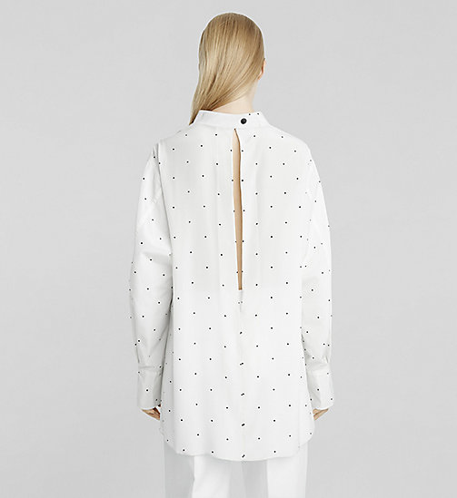 Micro Dot Crêpe de Chine Blouse - WHITE DOT - CK COLLECTION SHIRTS - detail image 1