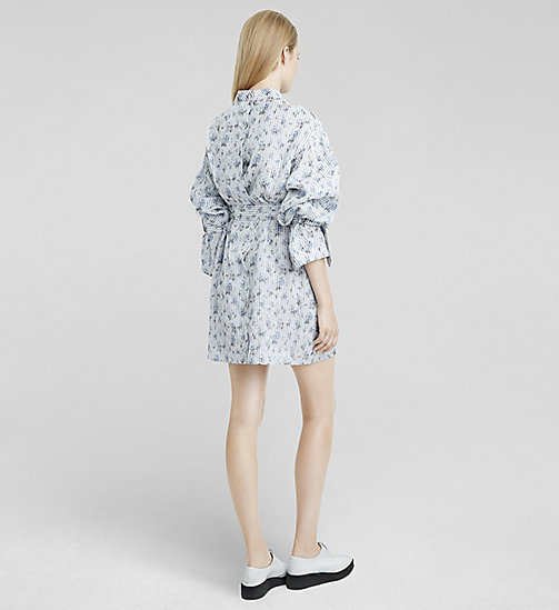 Organza Shirt Dress - DARK FLORAL PRINTED - CK COLLECTION  - detail image 1