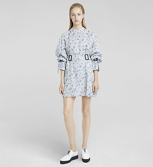 Organza Shirt Dress - DARK FLORAL PRINTED - CK COLLECTION SHIRTS - main image
