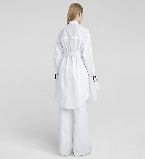 Gonna oversize con cintura in popeline - WHITE - CK COLLECTION CAMICIE - dettaglio immagine 1