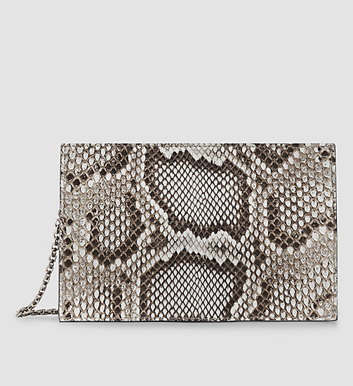 CKCOLLECTION Reißverschluss-Clutch aus Python - OPEN BEIGE - CK COLLECTION  - main image