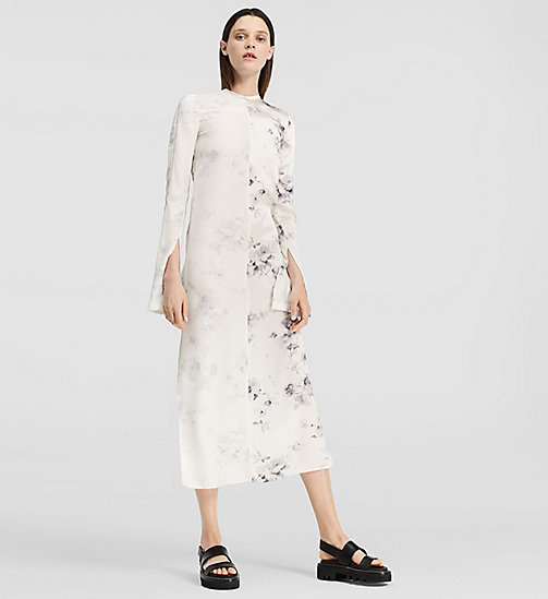 Floral Silk Split Sleeve Dress - MISCELLANEOUS GROUP - CK COLLECTION TROUSERS - main image