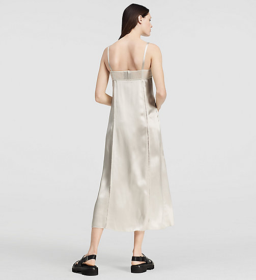 CKCOLLECTION Fluid Satin Slip Dress - SILVER - CK COLLECTION  - detail image 1
