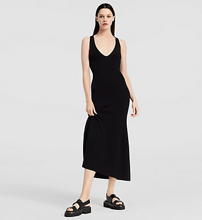 CALVIN KLEIN COLLECTION Crepe Gauze Long Dress W72D103COL001