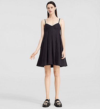 CALVIN KLEIN COLLECTION Cotton Pleated Mini Dress W72D104COL001