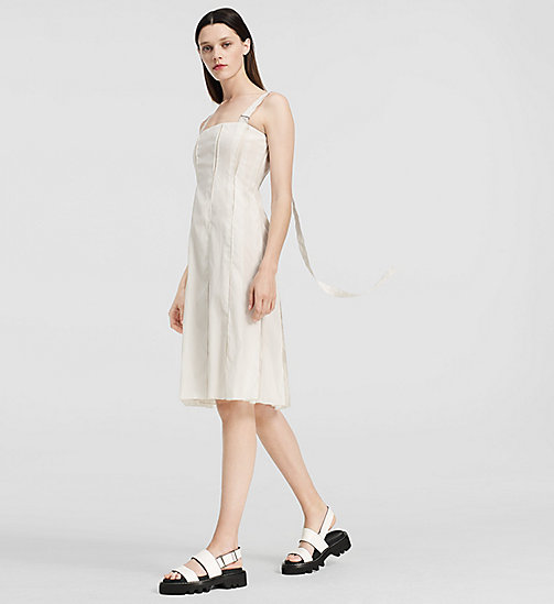 Organza jurk met plooien - OPEN WHITE - CK COLLECTION  - main image