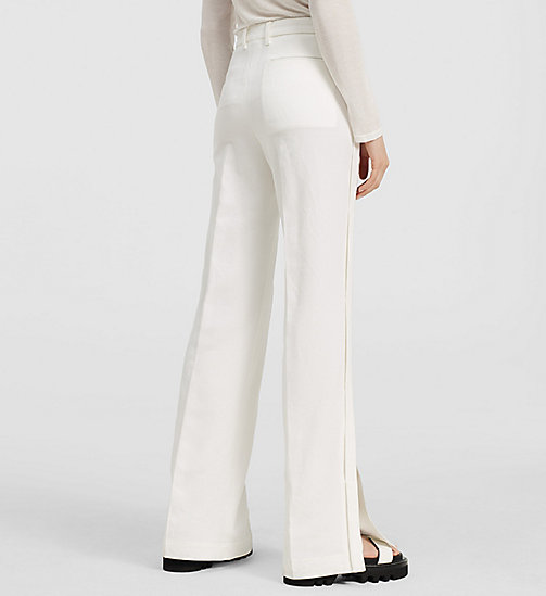 Cotton Side Detail Trousers - NATURAL WHITE - CK COLLECTION TROUSERS - detail image 1