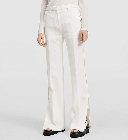 CKJEANS Cotton Side Detail Trousers - NATURAL WHITE - CK COLLECTION TROUSERS - main image