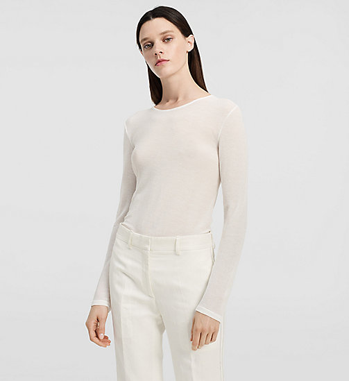Viscose Gauze Top - NATURAL WHITE - CK COLLECTION CLOTHING - main image