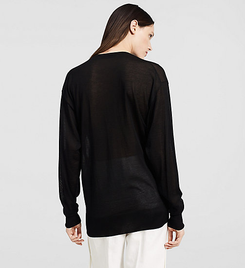 Extrafine Cashmere Oversized Sweater - BLACK - CK COLLECTION  - detail image 1