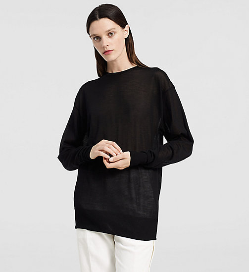 CKCOLLECTION Extrafine Cashmere Oversized Sweater - BLACK - CK COLLECTION  - main image