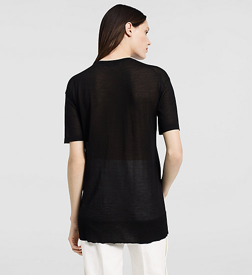 Extrafine Cashmere Oversized T-shirt - BLACK - CK COLLECTION  - detail image 1