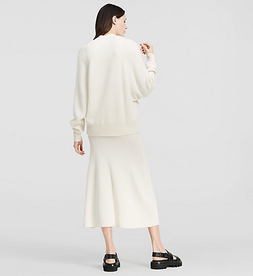 CKCOLLECTION Ribbed Cashmere Oversized Cardigan - NATURAL WHITE - CK COLLECTION  - detail image 1