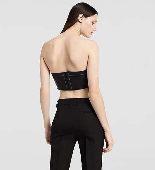 CKJEANS Matte Nappa Strapless Bustier - BLACK - CK COLLECTION JACKETS - detail image 1