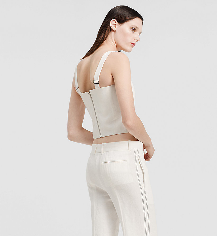 CKCOLLECTION Herringbone Linen Bustier Top - NATURAL WHITE - CK COLLECTION UNDERWEAR - detail image 2