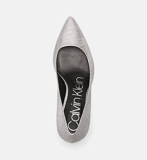CALVINKLEIN Metallic Leather Pumps - SILVER - CALVIN KLEIN Pumps - detail image 1