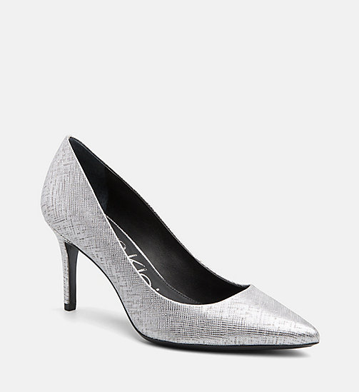 CALVINKLEIN Metallic Leather Pumps - SILVER - CALVIN KLEIN Pumps - main image