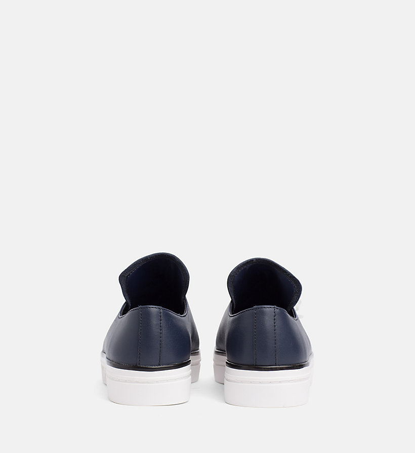 CALVIN KLEIN Leather Trainers - PLATINUM WHITE - CALVIN KLEIN WOMEN - detail image 2