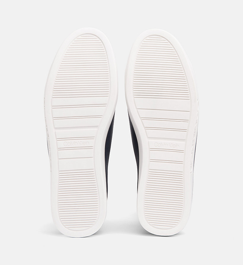 CALVIN KLEIN Leather Trainers - PLATINUM WHITE - CALVIN KLEIN WOMEN - detail image 4