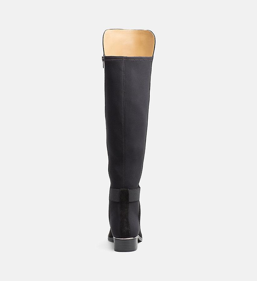 overknee stiefel aus wildleder und neopren calvin klein 00000e3136bgu. Black Bedroom Furniture Sets. Home Design Ideas