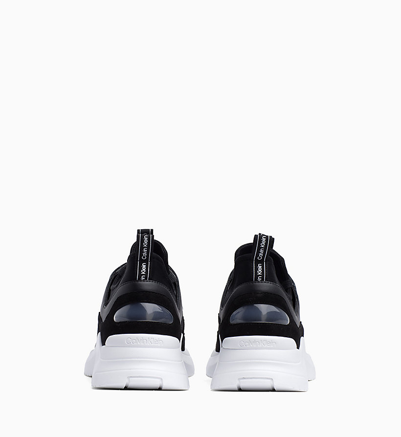 CALVIN KLEIN Leather Trainers - WHITE - CALVIN KLEIN WOMEN - detail image 2